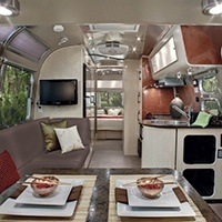 Airstream trailer interior